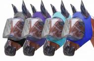 Showman ® Lycra® Zipper fly mask with ears.
