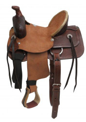 "13"" Buffalo  Youth hard seat roper style saddle."