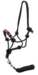 Showman® Beaded nose cowboy knot rope halter w/7' lead