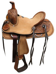 "12"" Double T  Youth hard seat roper style saddle.."