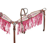 Showman ® Aztec print headstall and breast collar set.