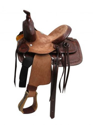 "10"" Buffalo  hard seat pony/youth saddle."