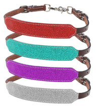 Showman ® Glitter overlay leather wither strap.
