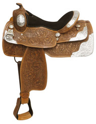 "16"" Double T fully tooled show saddle."