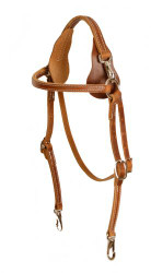 Showman® Harness leather mule headstall.