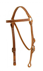 Showman ® Perfect fit harness leather headstall.