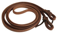 "Showman 1/2"" X 8' Long Oiled Harness Leather Roping Reins"