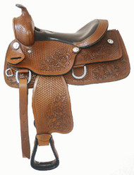 """13"""" Top Grain Leather Youth Saddle"""