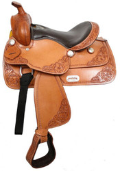 """13"""" Double T Youth Saddle With Top Grain Smooth Leather Seat"""