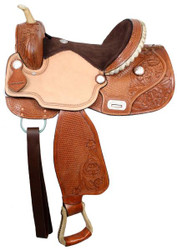 "15"", 16"" Double T Barrel Saddle With Flex Tree"