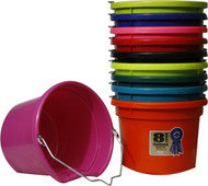 8 Quart Flat Back Bucket in Assorted Colors