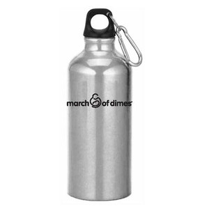 March of Dimes Aluminum Bottle with Carabiner Clip