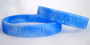 Blue Ribbon Find A Cure Wristbands - 5 Pack