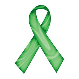 Green Swirl Ribbon Tattoo - 5 Pack