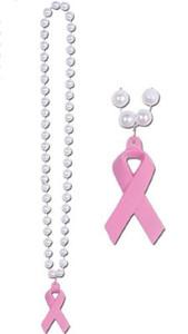Pink Ribbon Beads