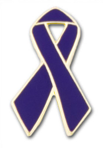 Purple Ribbon Pin