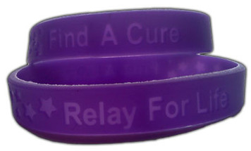 Relay For Life Youth  Size Wristbands - 10 Pack