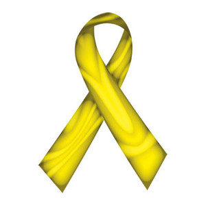 Yellow Swirl Ribbon Tattoo - 5 Pack