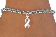 Silver Ribbon Charm Bracelet