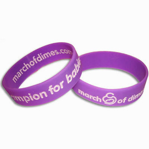 March of Dimes Wide Wristbands - Medium Size - 5 Pack