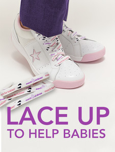 March of Dimes March for Babies Shoelaces