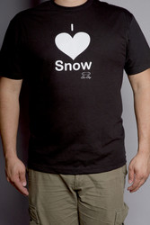 "Men""s Snow Sugar I 'Heart' Snow Tee"