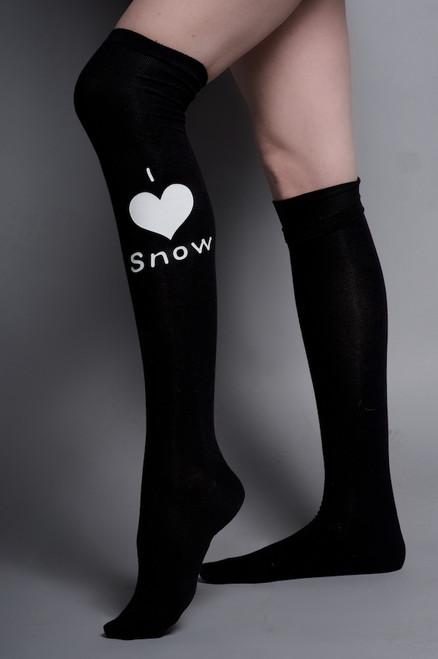 Snow Sugar Over the Knee I 'Heart' Snow Socks