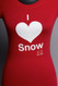 I Heart Snow tee Cherry Red