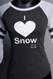 Snow Sugar I 'Heart' Snow baseball tee