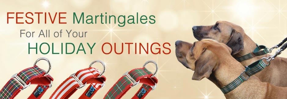 Holiday Martingale Dog Collars