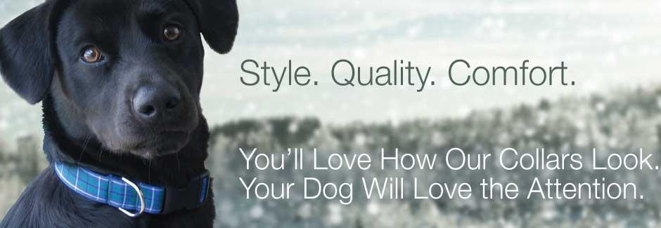 durable, comfortable, stylist dog collars