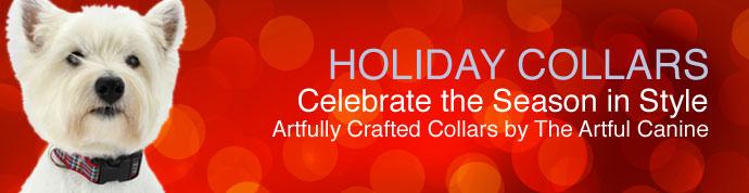 holiday dog collars, christmas dog collars