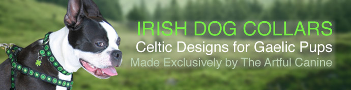 Irish Dog Collars in celtic designs