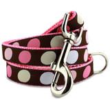 Polka Dot Dog Leash in Pink