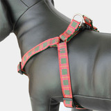 Plaid Step-in Dog Harness, Choke-Free, Adjustable Nylon