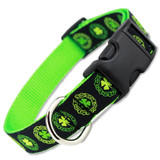 Irish Dog Collar, Quick Release Snap On Style Buckle, Celtic Knots & Clover, Adjustable