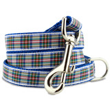 Plaid Dog Leash, Dress Stewart Tartan, 4', 5', 6' Long, D-ring, Nylon