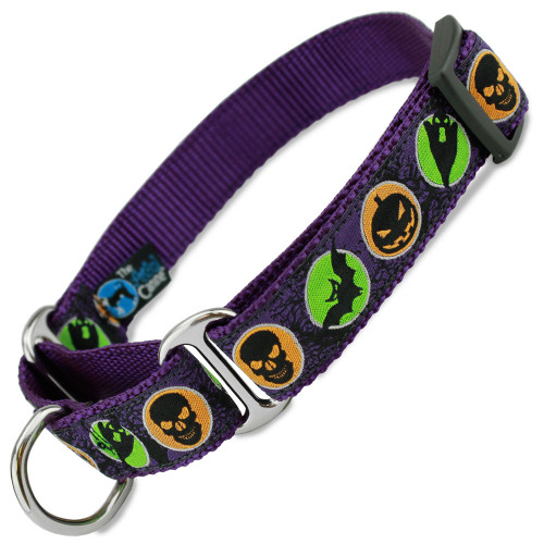 Halloween Martingale dog Collar, Limited Slip Safety Collar