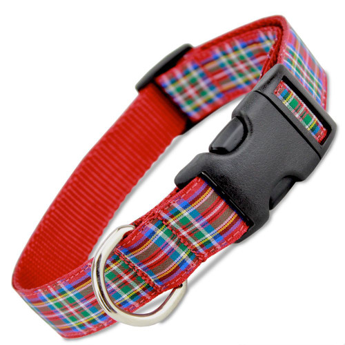 Plaid Dog Collars in Over 28 Tartan Plaid Designs for Terriers ...