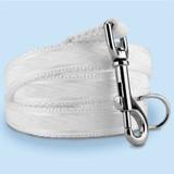 Wedding Dog Leash, White Taffeta, 4', 5' 6' long lengths