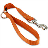 "Short Dog Leash, Traffic Lead, City Leash, 18"" long, Orange"