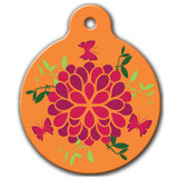 Summer Blossom Dog ID Tag