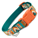 Southwestern dog collar, Tribal, Aztec Quick Release Buckle
