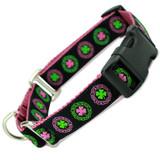 Irish Buckle Martingale Collar, Limited Slip Safety Collar, Pink