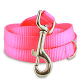 Hot Pink Nylon Dog Leash