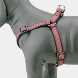Buffalo Plaid Step In Dog Harness, Red & Black Flannel Check, side view