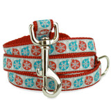 Christmas Dog Leash with Snowflakes