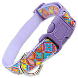 Spring Kaleidoscope Dog Collar, Easter Dog Collar