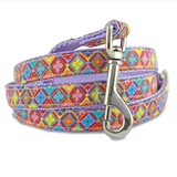 spring kaleidoscope geometric designer dog leash