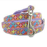 spring floral geometric designer dog leash